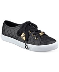 G By Guess Byrone Quilted Lace Up Sneakers Women's Shoes Black