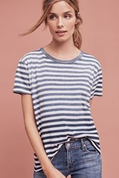 Anthropologie Levi's Striped Boyfriend Tee Dark Blue