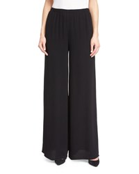 The Row Wide Leg Elastic Waist Pants Black