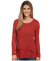 Miraclebody Jeans Casey Crop Jacquard Sweater W Body Shaping Inner Shell Scarlet Red Women's Sweater