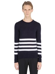 S.O.H.O New York Striped Mohair Blend Sweater