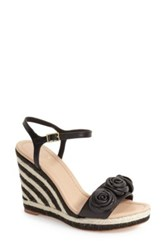 Kate Spade 'Jill' Espadrille Wedge Sandal Women Black