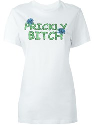 House Of Holland Prickly Bitch T Shirt White