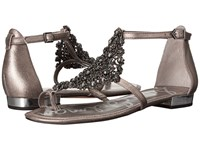 Sam Edelman Dillan Pewter Dreamy Metallic Leather Women's Dress Sandals