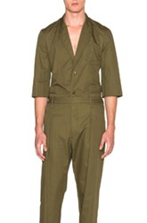 Christophe Lemaire Lemaire Light Cotton Linen Twill Short Sleeve Jacket In Green