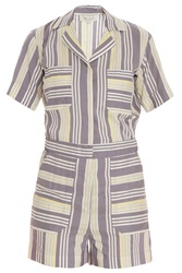 Paul And Joe Stripped Silk Blend Romper