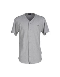 Obey Shirts Shirts Men Light Grey