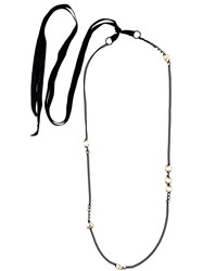 Ann Demeulemeester Crystal Chain Necklace Green