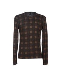 Boss Black Knitwear Jumpers Men Dark Brown