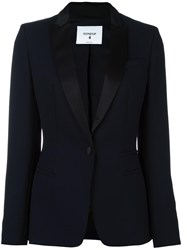 Dondup Single Breasted Fitted Jacket Blue