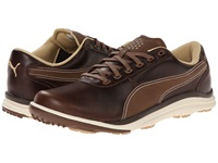 Puma Biodrive Leather Bison Brown White Swan Men's Golf Shoes