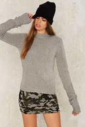 Cheap Monday Honor Knit Sweater Silver