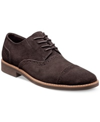 Stacy Adams Seaver Cap Toe Oxfords Men's Shoes Brown Suede