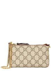 Gucci Linea A Monogrammed Pouch Beige