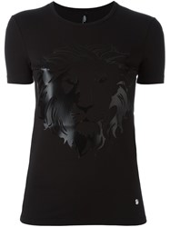 Versus Lion Head Print T Shirt Black