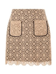 Dorothy Perkins Lace A Line Skirt Cream