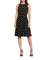 Lauren Ralph Lauren Polka Dot Jersey Dress Black Cream