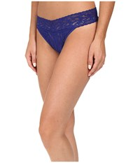 Hanky Panky Signature Lace Original Rise Thong Midnight Blue Women's Underwear