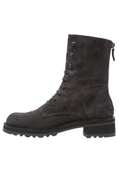 Homers Romi Laceup Boots Grunge Dark Grey
