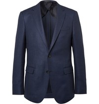 Hugo Boss Navy Slim Fit Stretch Virgin Wool Blazer Blue