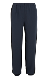 Ca Dric Charlier Two Tone Crepe And Satin Tapered Pants