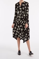 Proenza Schouler Wrap Flower Print Dress Multi