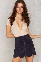 Nasty Gal Noah Suede Mini Skirt