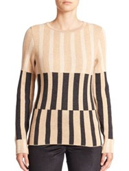 Escada Graphic Bar Print Sweater Multi