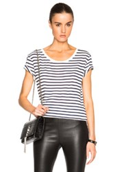 Saint Laurent Striped Ballet Tee In Stripes
