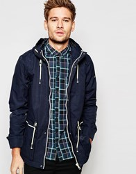 Blend Of America Blend Hooded Jacket Lightweight Parka In Navy Navy