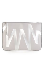Christopher Kane Taped Leather Pouch Grey Multi