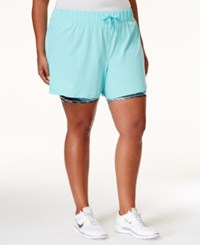 Ideology Plus Size 2 In 1 Shorts Only At Macy's Crystal Mist