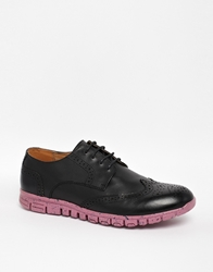 Asos Leather Brogues Black