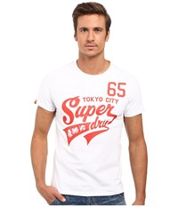 Superdry High Number 65 Entry Tee Optic Men's T Shirt Brown