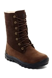 Timberland Faux Shearling Lined Woodhaven Roll Down Boot Brown