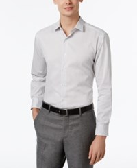 Alfani Red Men's Fitted Black Texture Stripe Dress Shirt Only At Macy's