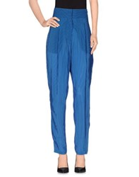 Les Prairies De Paris Trousers Casual Trousers Women Blue