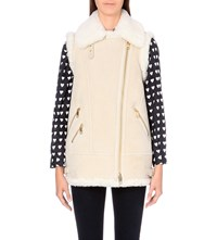 Burberry Brentdale Suede Gilet Natural White