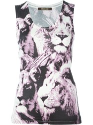 Roberto Cavalli Printed Tank Top Nude And Neutrals