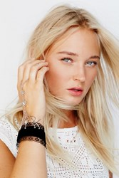 Free People Womens Velvet And Lace Hand Piece