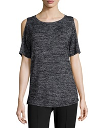 Rag And Bone Show Off Cold Shoulder Tee Black Heather
