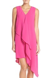 Adrianna Papell Women's Ruffle Front Crepe High Low Dress