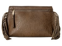 French Connection Bowie Clutch Turtle Handbags Beige