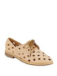 Rachel Comey Acker Perforated Leather Oxfords Champagne