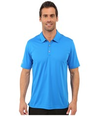 Adidas Climachill Solid Club Polo Shock Blue Men's Short Sleeve Pullover