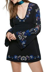 Free People Women's Holiday Embroidered Minidress