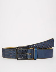 Original Penguin Leather Belt Blue