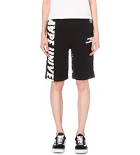 Aape By A Bathing Ape Contrast Back Jersey Shorts Black