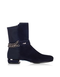 Loriblu Night Blue Suede Bootie Dark Blue