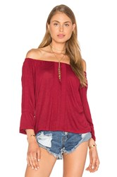 Sanctuary Bella Off The Shoulder Top Red